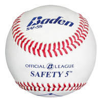 Baden Official League Saftey 5 Baseballs - Dozen
