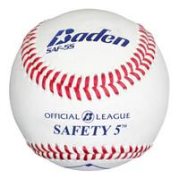 Baden Official League Saftey 5 Baseballs - Dozen