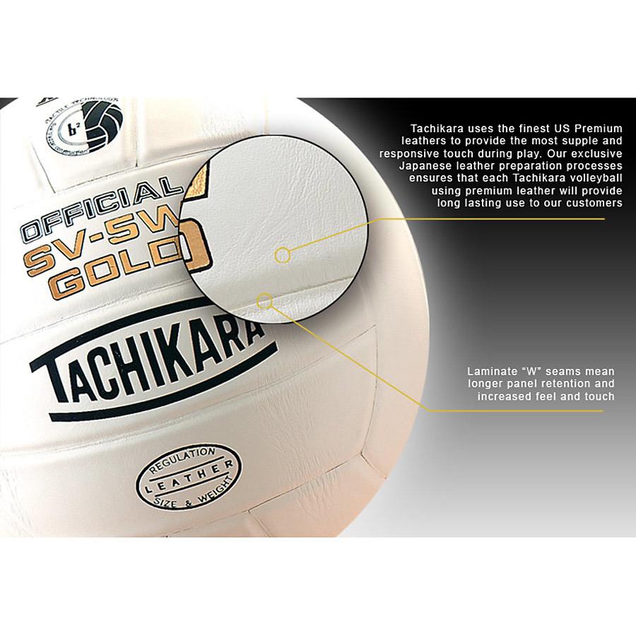 Tachikara SV-5W Gold Competition Volleyball