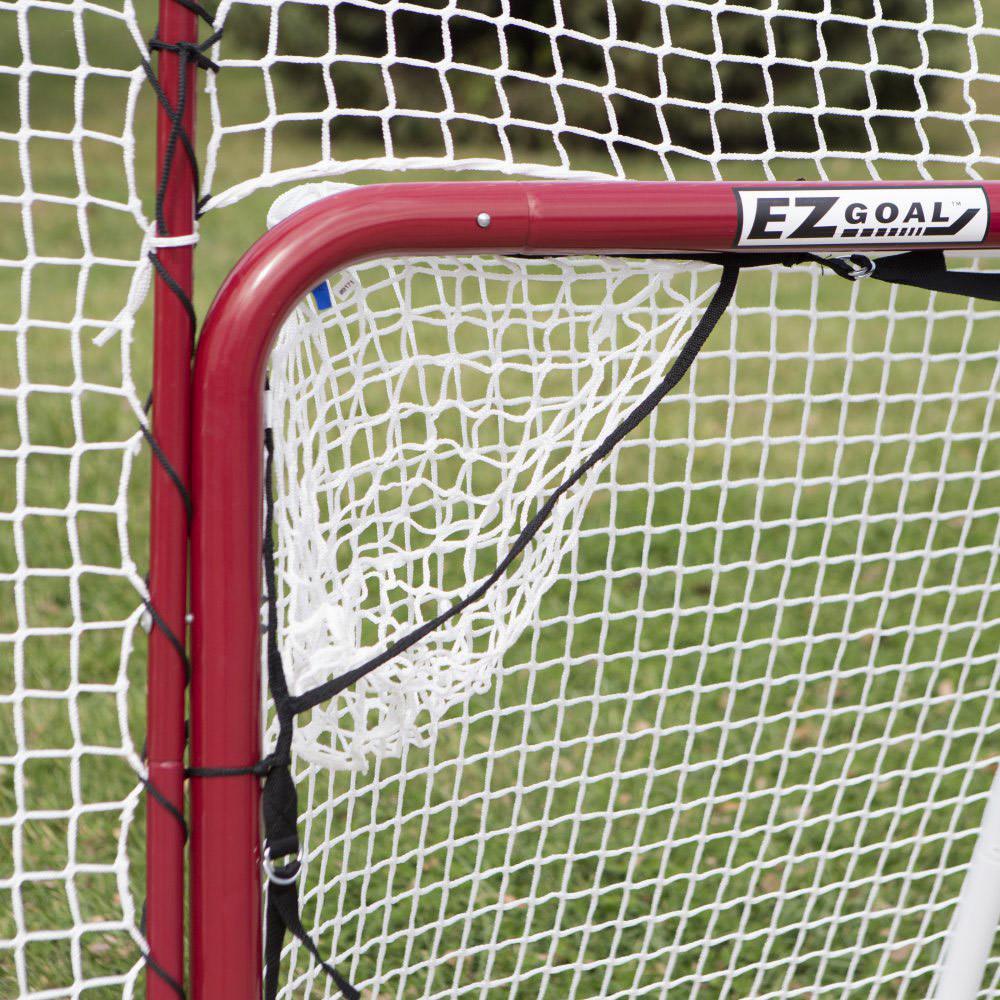 EZ Goal Steel Folding Hockey Goal with Backstop & Targets