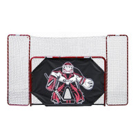 EZ Goal Folding Steel Hockey Goal with Backstop - Shooter Tutor & Targets