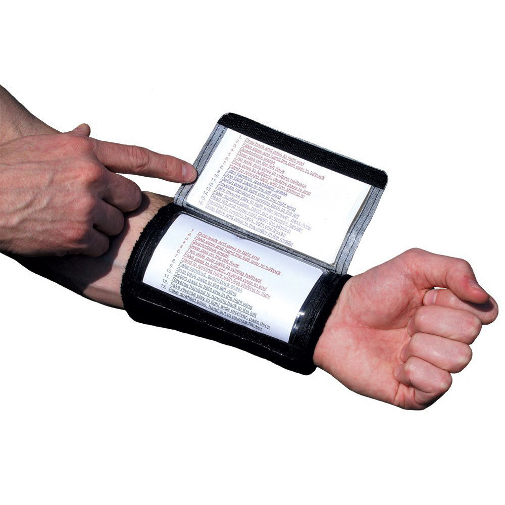 ADULT QUARTERBACK ARM PLAY HOLDER TRIPLE PLAY CARD NEW