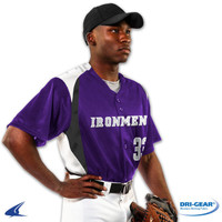 Champro Bull Pen Full-Button Baseball Jersey