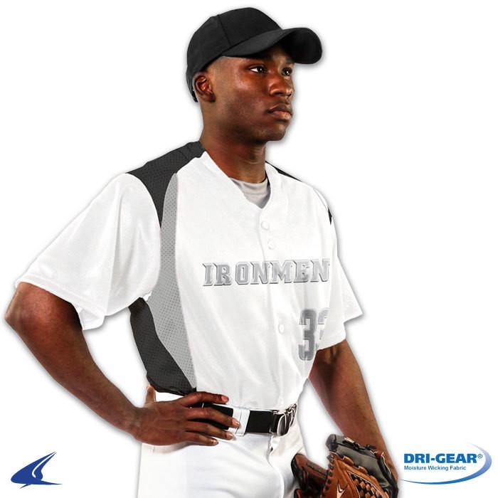 Champro Bull Pen Full-Button Baseball Jersey
