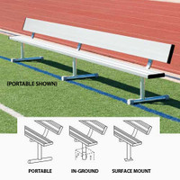 MacGregor Aluminum Player Benches With Backs (BEPG)