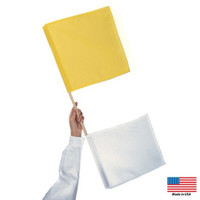 Yellow & White Umpires Flag