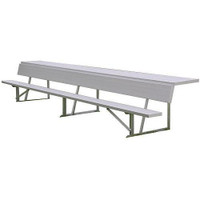MacGregor Aluminum Player Bench with Shelf