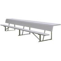 MacGregor Aluminum Player Bench with Shelf (BEPBK)