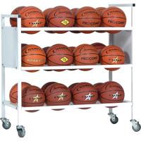 Champion Sports 24 Basketball Double Wide Ball Cart