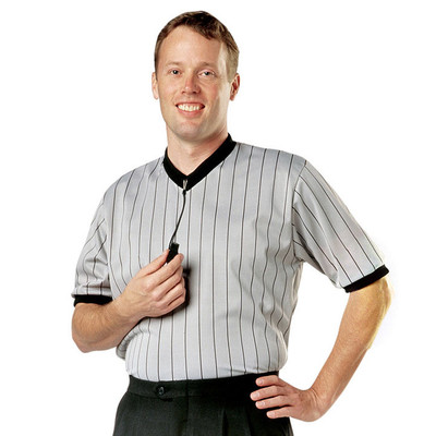 Cliff Keen Ultra Mesh Gray V-Neck Referee Shirt