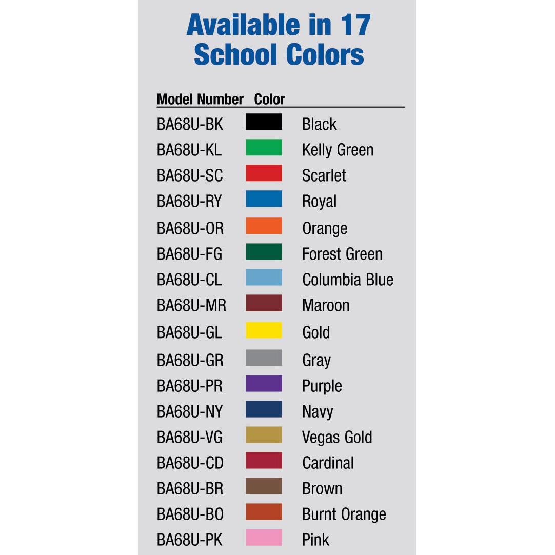 Bison BA68U Dura-Skin Basketball Backboard Padding Color Options