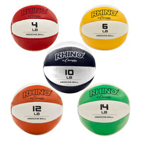 Champion Sports Leather Medicine Ball Set of Five (MBSET)