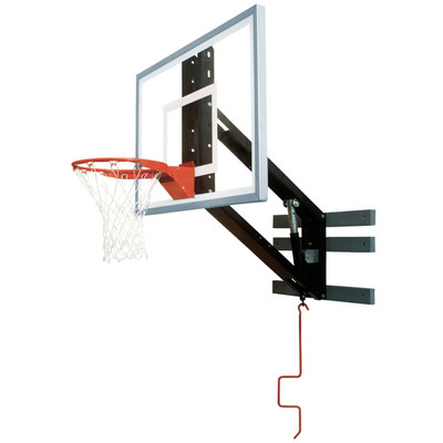 Bison PKG300 Zip Crank Wall Mounted Adjustable Basketball Hoop