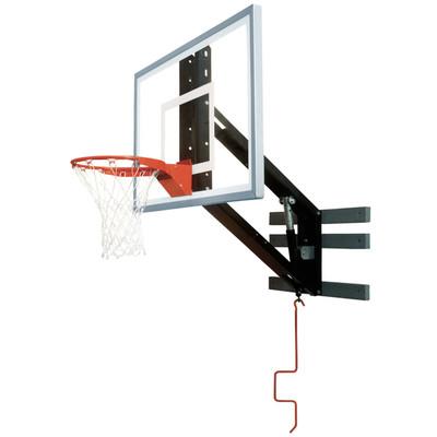 Bison PKG300 Zip Crank Wall Mounted Adjustable Basketball Hoop