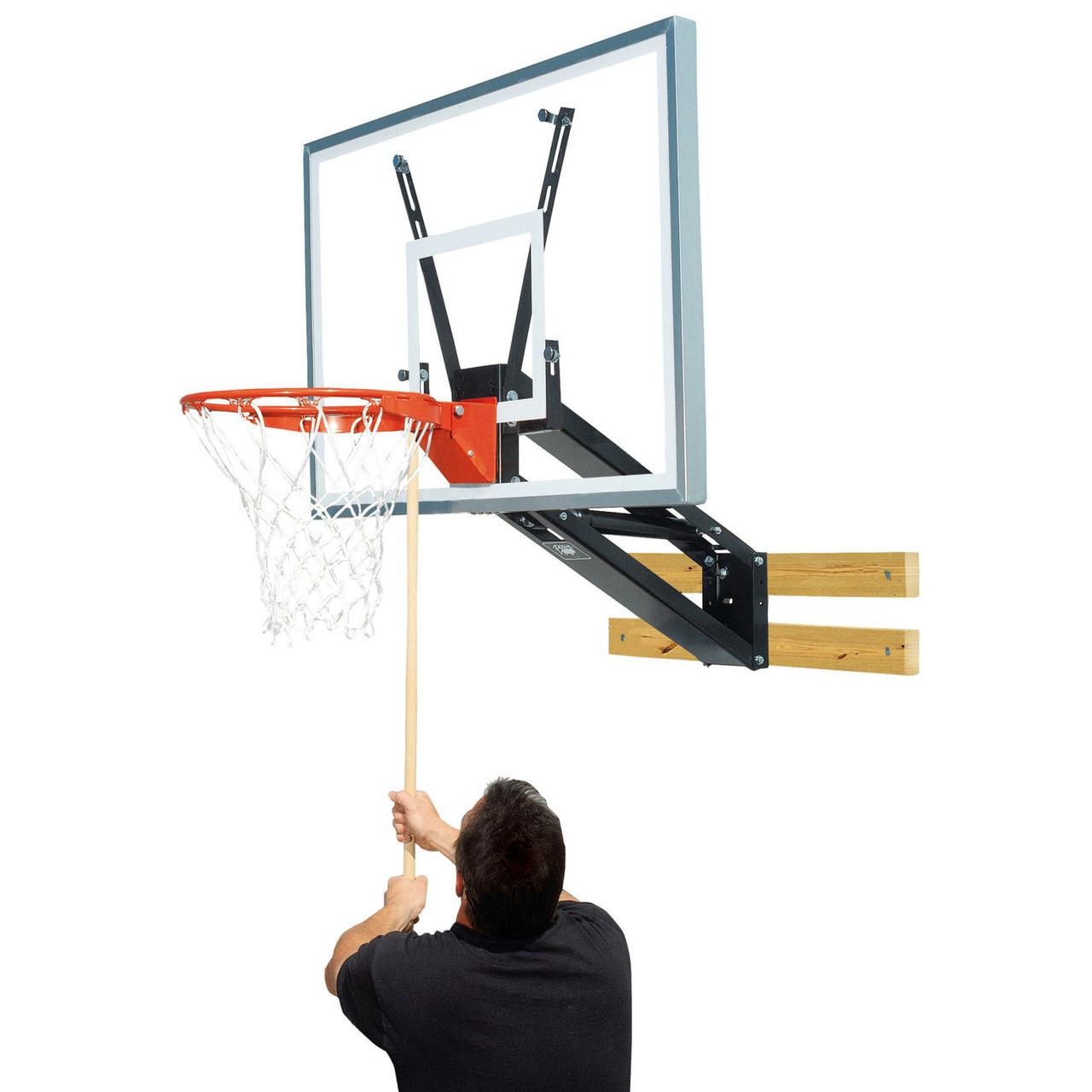 Bison PKG275 Qwik-Change Acrylic Wall Mounted Basketball Shooting Station