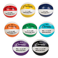 Champion Sports Leather Mega Medicine Ball Set of Eight