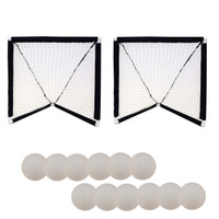 Champion Sports Mini Lacrosse Goals and Foam Ball Set