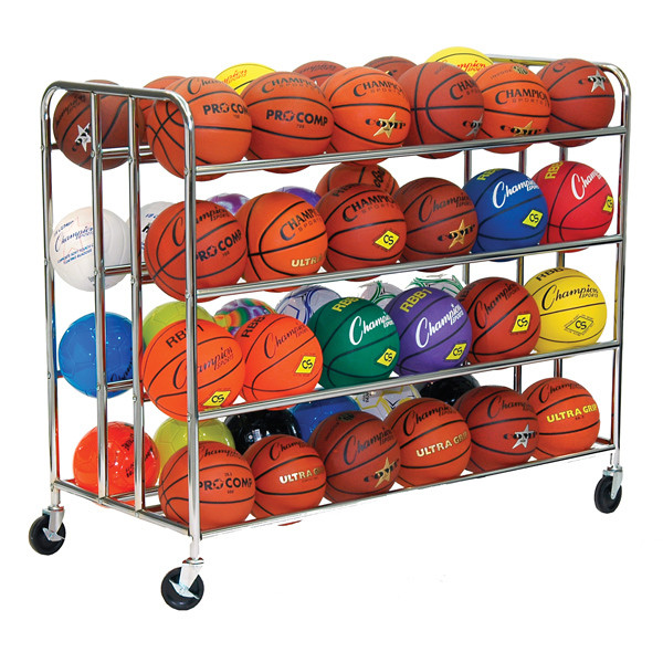 Champion Sports 48 Ball Double-Wide Ball Rack