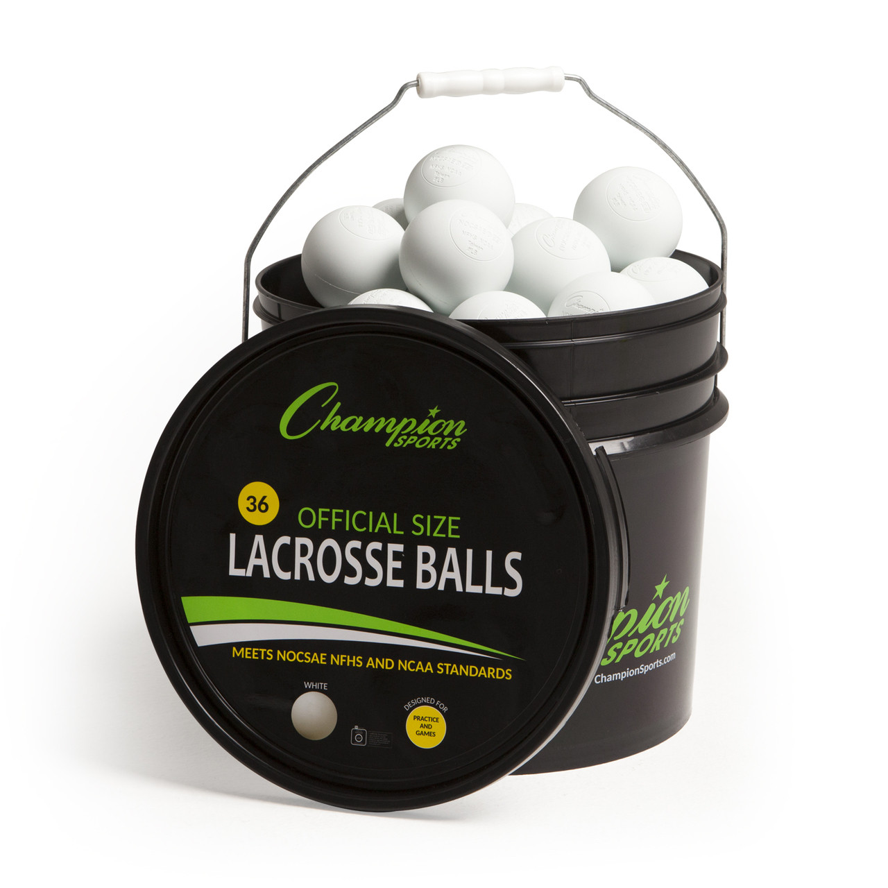 Champion Sports Lacrosse Ball Bucket - 36 Balls