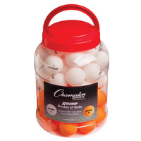 Rhino 1 Star Bucket of 60 Table Tennis Balls