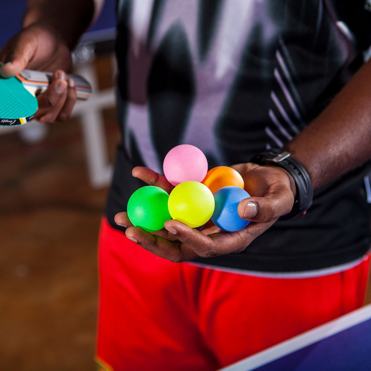 Rhino 1 Star Rainbow Table Tennis Balls