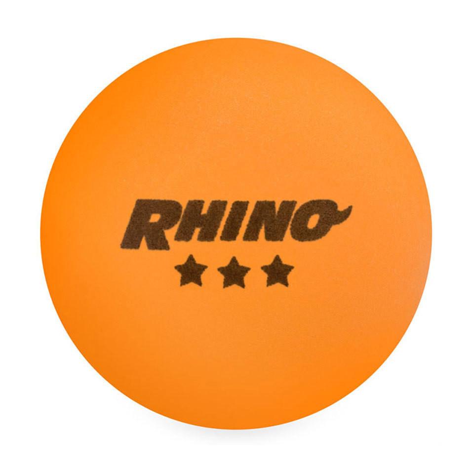Rhino 3 Star Tournament Table Tennis Balls - 38 Ball Box