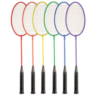 Champion Sports All Steel Badminton Racket Rainbow Set