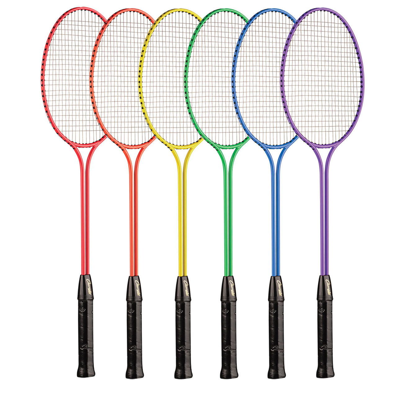 Champion Sports Steel Twin Shaft Badminton Rainbow Set (BR31SET)