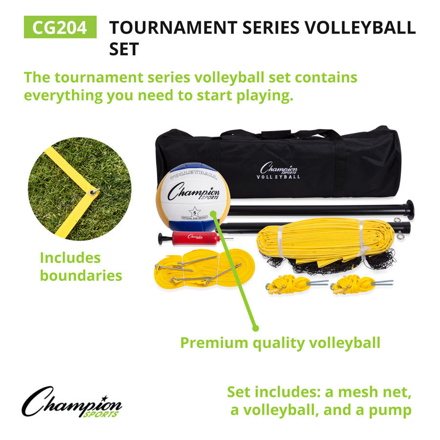 Champion Sports Tournament Series Volleyball Set (CG204)