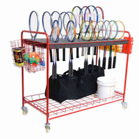 Badminton Racquet Storage Cart
