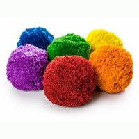 "4"" Rainbow Fleece Ball Set"