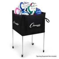 Champion Sports Folding Volleyball Cart