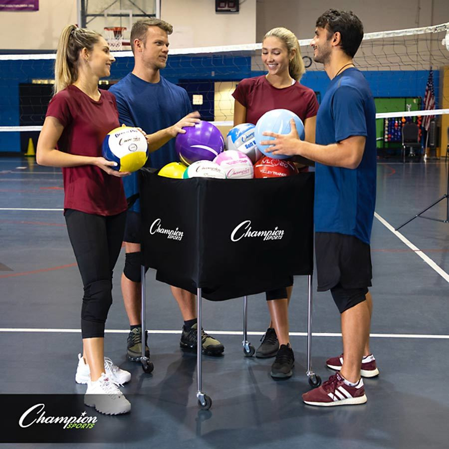 Champion Sports Folding Volleyball Cart