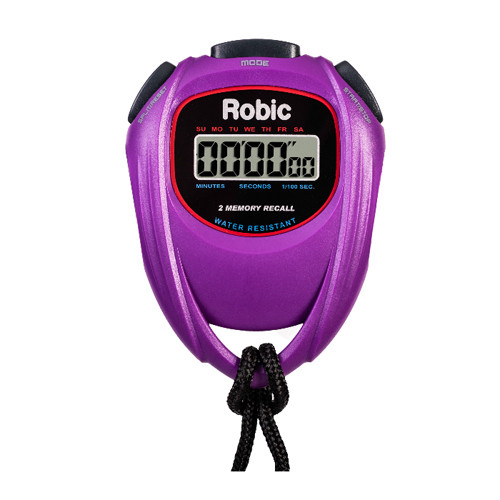 Robic SC-429 Water Resistant 2 Memory Stopwatch Purple