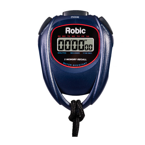 Robic SC-429 Water Resistant 2 Memory Stopwatch Blue