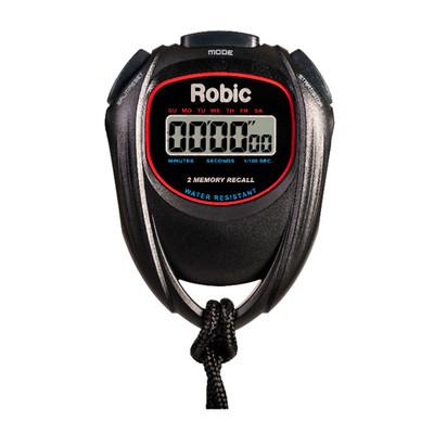 Robic SC-429 Water Resistant 2 Memory Stopwatch Black