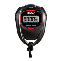 Robic SC-429 Water Resistant 2 Memory Stopwatch Black