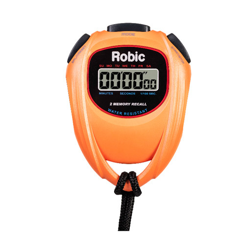 Robic SC-429 Water Resistant 2 Memory Stopwatch Orange