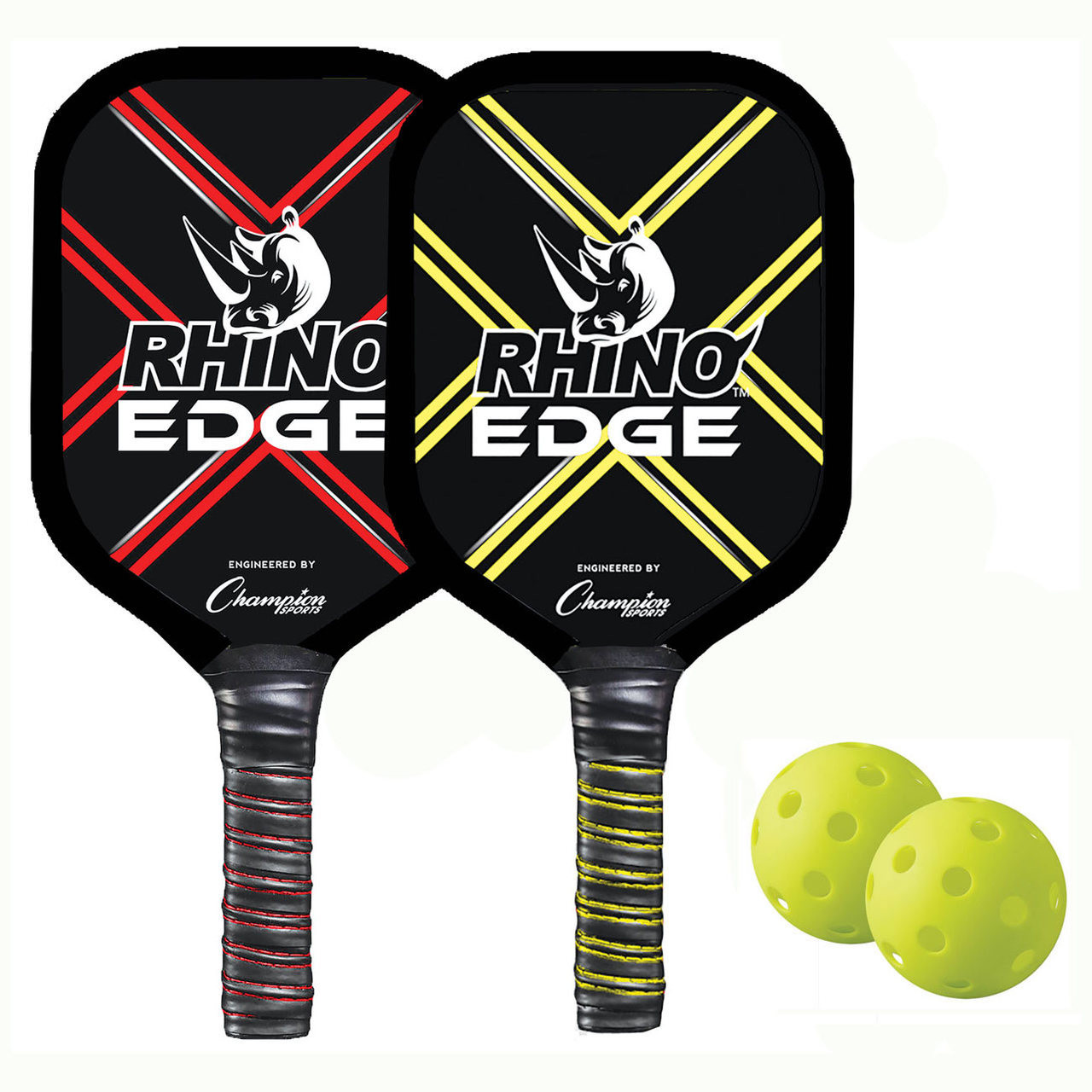 Rhino Edge 2 Player Wooden Pickleball Set