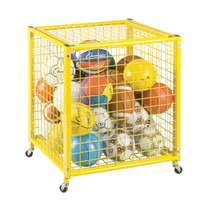 Champion Sports Small Yellow Locking Ball Cart (LRCS)