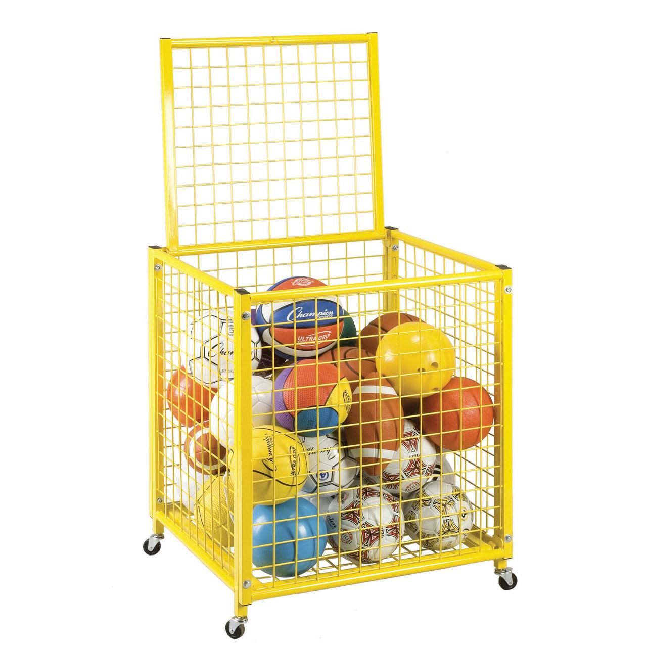 Champion Sports Small Yellow Locking Ball Cart (LRCS)