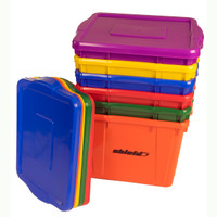 Rainbow Deluxe Storage Bin Set of Six