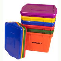 Rainbow Deluxe Storage Bin Set of Six