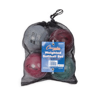Champion Sports Weighted Training Softball Set of 4 (SBWTSET4)