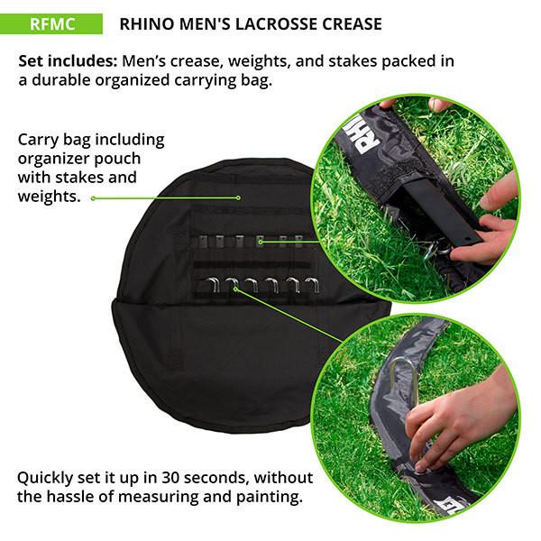 Rhino Men's Lacrosse Crease (RFMC)
