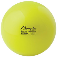 Champion Sports NFHS Approved Field Hockey Balls - Yellow (FHB1YL)