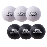 Rhino Skin Black / White Dodgeball Set (RXD6BW)
