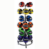 Reactor Rubber Medicine Ball Set with Rack
