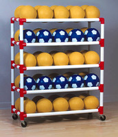 Duracart 5 Shelf Ball Wall Cart
