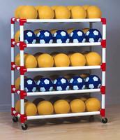 Duracart 5 Shelf Ball Wall Cart